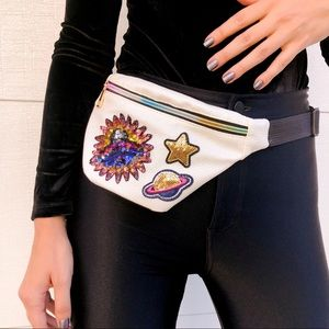 Handbags - Sequined UFO Fanny Pack 🛸⭐️